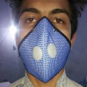 Blue And Black Nose Mask