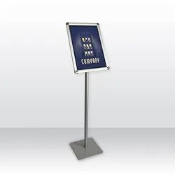 Indoor White Poster Stand, For Hospital-Bank-Office-Promotion