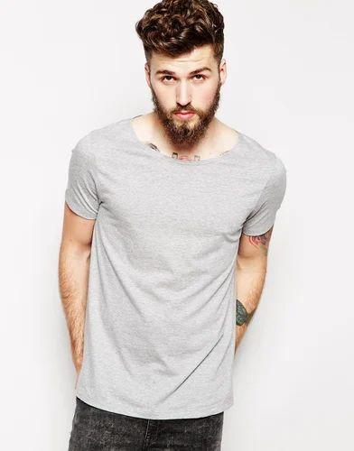 3772401be Cotton Medium , XL Men's Boat Neck T-Shirt, Rs 220 /piece | ID ...
