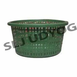 Green Plastic Jali Basket