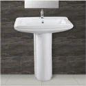 Plain White Wash Basin Pedestal, Shape: Rectangular