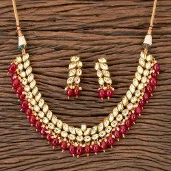 Gold Plated Kundan Classic Necklace 300329