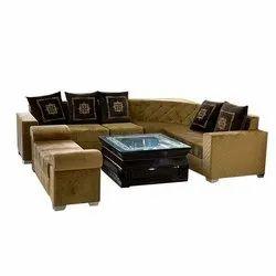 Straight Handle L Shape Sofa Set