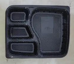 Meal Tray 4 Portion Black
