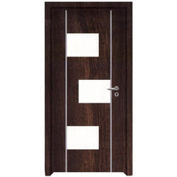 Omega Teak Wood Designer Laminated Door