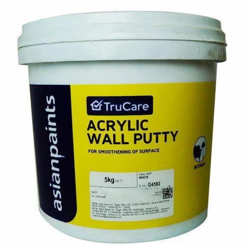 White Acrylic Wall Putty Rs 60 Kilogram Harish Colour King Id 14662078333