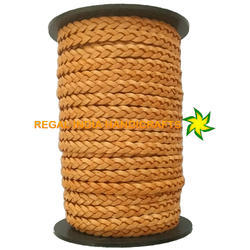 Natural Tan  Flat Braided Leather Cord