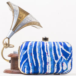 New Fancy Silk Ladies Clutch Bag