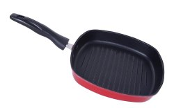 Nirlon Non Induction Base Small, Mini Nonstick Square Grill Pan