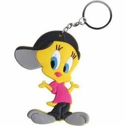 Printed Bag And Polywrap Cartoon Keychain, Usage/Application: Key Holder And Gift Item