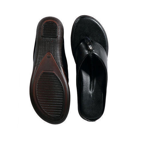 Ladies Black Slippers, Size: 36 to 42