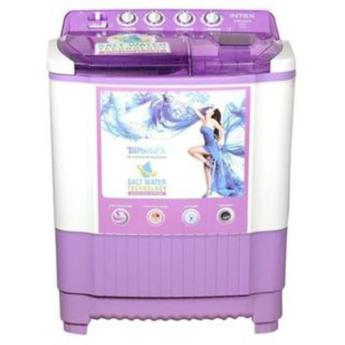 INTEX 8 kg Semi Automatic Top Load Washing Machine, WMSA80LV, White &...
