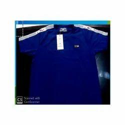 Blue Matty Cotton T- Shirt