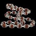 SSGJ Rudraksha silver cap Mala For Pooja and jap