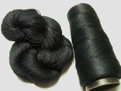 Black Dyed Pure Spun 2 Ply Yarn