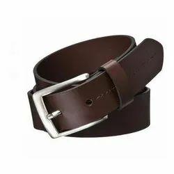 Formal Wear Brown Mens Metal Buckle Leather Belt