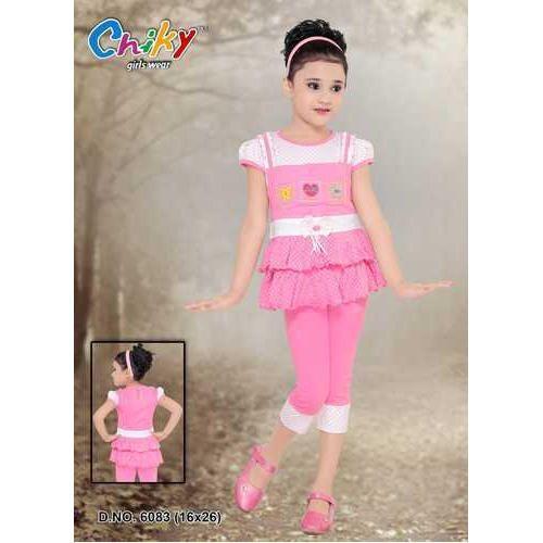 5b481a1639d4c Chinky Cotton Kids Pink Capri
