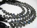 Natural Labradorite Coin Shape Briolette Size 7mm Beads Strand 8 Inches.
