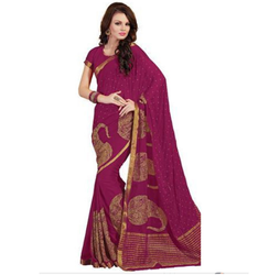 fc10517d54ef47 Silk Party Wear Saree with Blouse Piece
