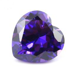 Synthetic Dark Purple Amethyst Cubic Stone