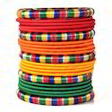 Indian Handcraft Multi Colour Fashionable Silk Thread Bangle
