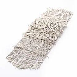 Handmade Macrame Cotton Table Runner