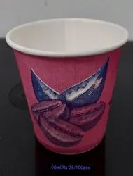 krc red Paper Cup, Capacity: 90ml, Packet Size: 35