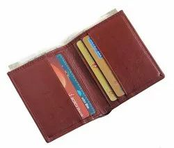 Leather Card Holder With RFID Secured