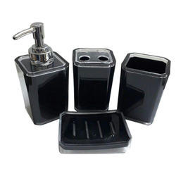 Black Acrylic High Gloss And Pc Bathroom Dispenser Set