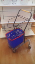 Basket Wheel Trolley With 2 Basket
