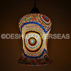 Multi Mosaic Hanging Lamps