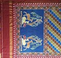 Silk Double Iket Patola Saree, Hand Made