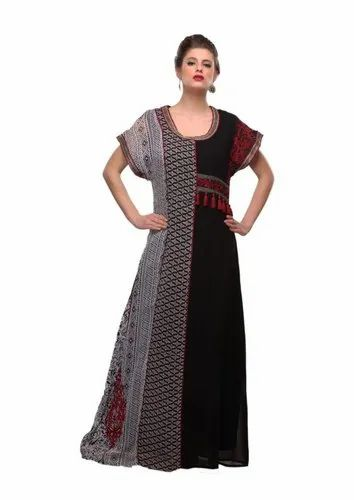 346a5c7d05 Black White Red Emb. Maxi Dress Abaya at Rs 1500 /piece | Noida | ID ...