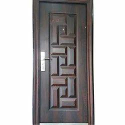 Brown Wood Wooden Safety Door