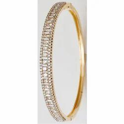 Diamonds Gold Jewellery Bangle Bracelet