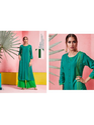 Maa Indian Fashion Women Sea Green Kurti with Palazzo