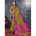 Bold Purple Cotton Silk Saree