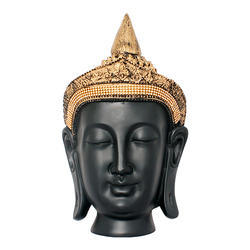 Black Golden Look Gautam Budhha Face Statue Gift Item