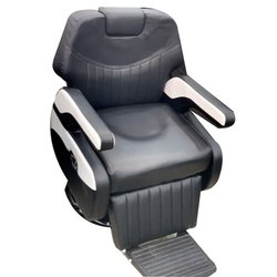 Black Salon Chair with Footrest