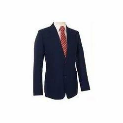 Plain Mens Blue Cotton Formal Coat
