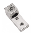 Aluminum Double Barrel Connectors One Hole Mount