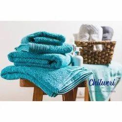 Chilweri Blue Terry Bath Towel, Size: 21 Inch X 14 Inch