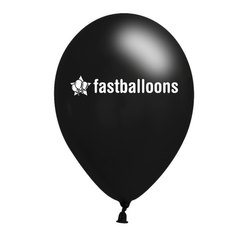 Black Printed Balloons