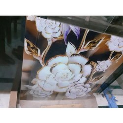 Printed Glossy Decorative Art Glass, For Decoration