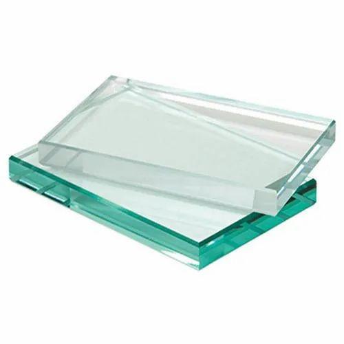 Transparent Plain Glass Toughened Glass, Shape: Flat, Size: 51-100 Square Feet