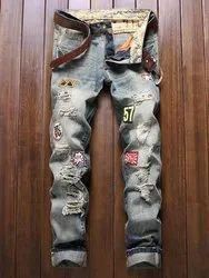Comfort Fit Black Mens Jeans