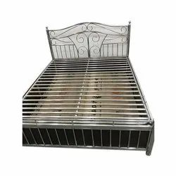 PRAJAPATI Polished Stainless Steel Box Bed, Single