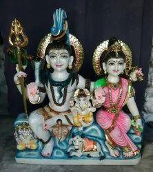 Marble Shiv Parivar Statues