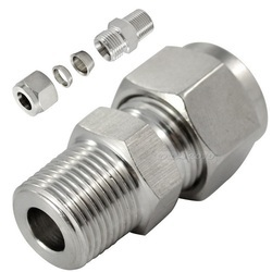 KE Silver Stainless Steel 316 Male Connector, Size: 1 and 2 Inch