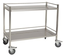 Stainless Steel Hospital Instrument Trolley